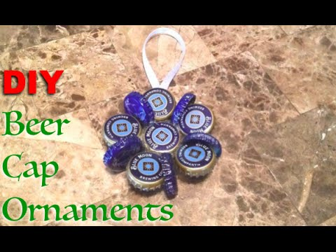 DIY Beer Cap Ornaments