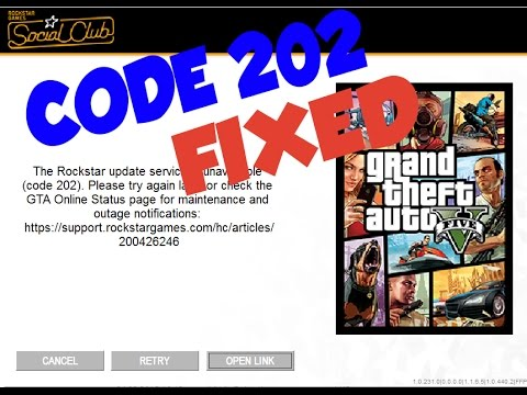 CODE 202 GTA 5 ERROR SOLUTION -- English (FAST AND SIMPLE)
