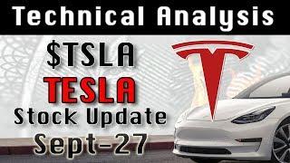 $TSLA Tesla Sept-27 Update Stock Market Technical Analysis Chart