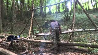 Building A Raised Bed Shelter & Bushcraft Tea