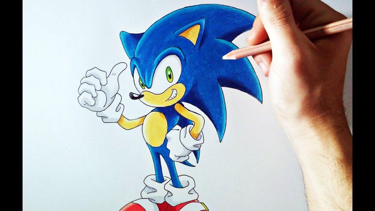 DIBUFÁCIL | Aprende a dibujar a Sonic (para principiantes ...