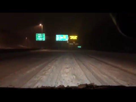 Driving during Jonas Storm , Snowstorm , Blizzard, washington DC blizzard warning VA  SnowDay9