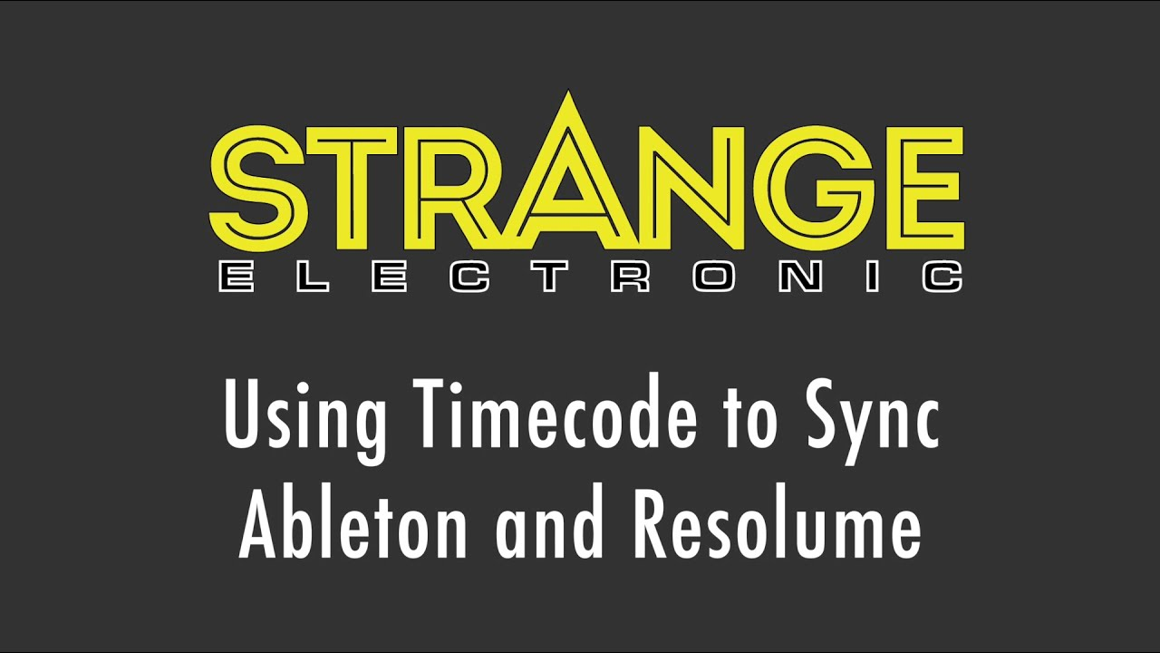 Using Timecode to Sync Ableton Live and Resolume