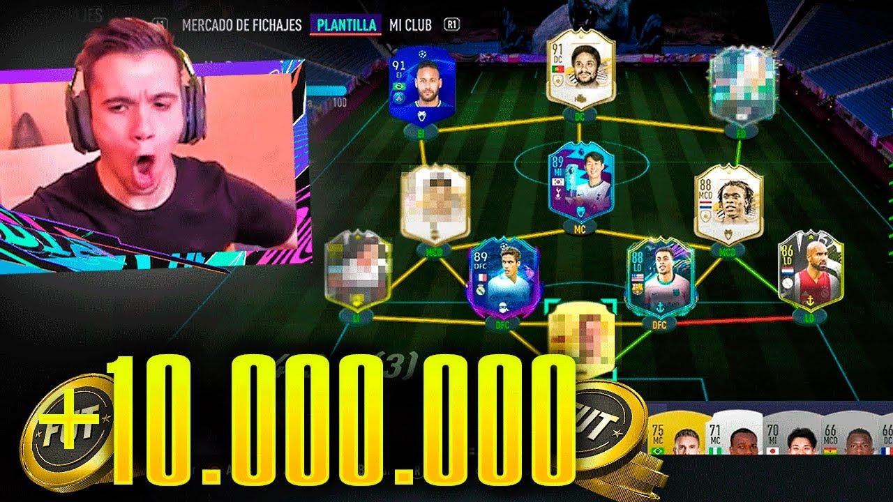¡MI EQUIPO de +10 MILLONES de MONEDAS PARA FUT CHAMPIONS! - FIFA 21