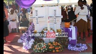 Walichoongea Viongozi mbalimbali katika Mazishi ya Maria na Consolata