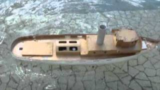 CVP - Rc steam engine boats on water