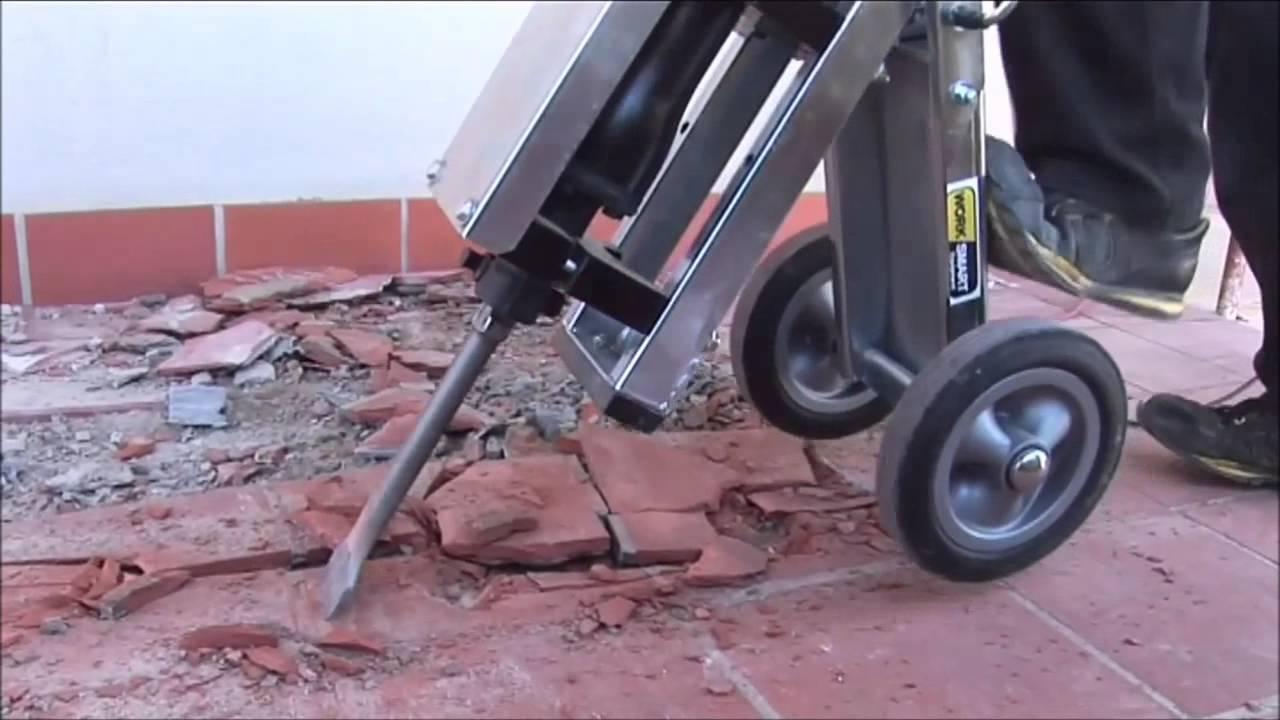 makinex jackhammer trolley demonstration