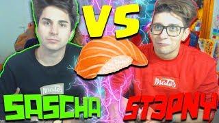 ST3PNY & SASCHA VS SUSHI !!