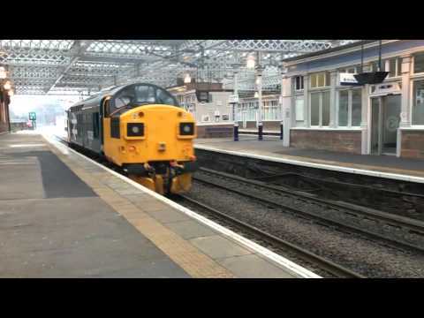 37025 Mainline Debut- passing Paisley Gilmour Street