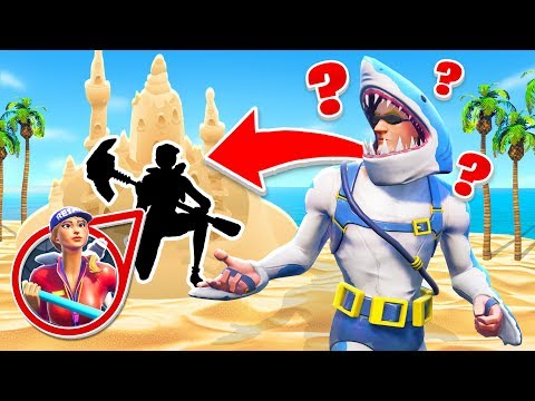 5000 IQ VERSTECK am STRAND! Fortnite HIDE and SEEK!
