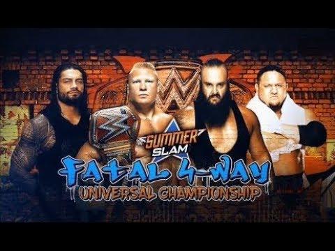 WWE SUMMERSLAM 2017 Roman Reigns vs. Samoa...