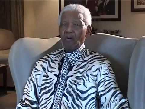 Nelson Mandela - Mensaje en agradecimiento por el dia de Mandela