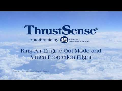 Innovative Solutions & Support's ThrustSense Autothrottle Vmca Protection Demonstrated