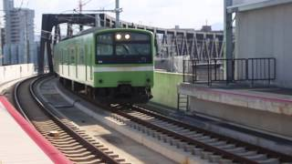 JRおおさか東線国鉄201系新大阪行き南吹田駅到着