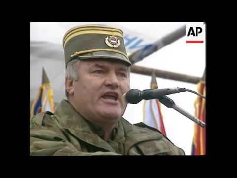 Bosnia - Gen. Ratko Mladic Addresses Troops