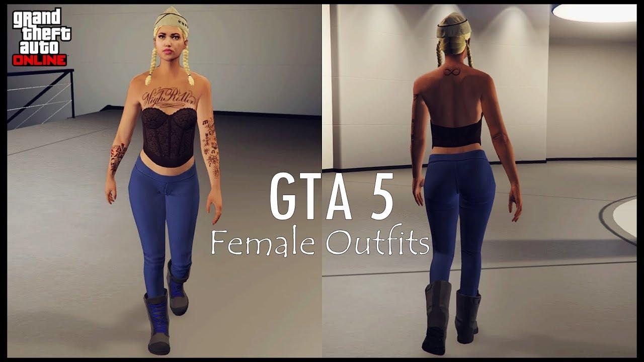 GTA 5 Online - Female Outfits / New Update u2661 - YouTube