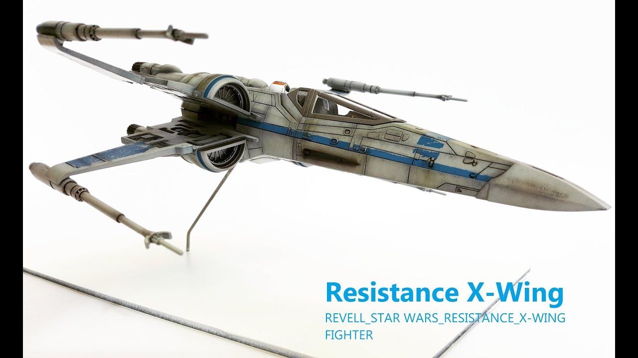 premier ordre résistance X Wing STARWARS REVELL MODEL KITS Poe/'s X Wing