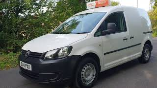 WHITE VW CADDY CADDY VAN,  2014 REGISTERED , MANUAL GEAR BOX , CAR FINANCE AVAILABLE , RAC DEALER