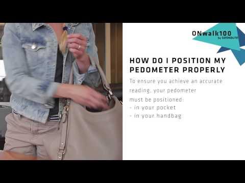 SAV GEONAUTE ONWALK ENG How Do I Position My Pedometer Properly