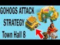 (HINDI) Golem,hog 3 STAR attack Strategy For TH8 in clan war in clash of clans