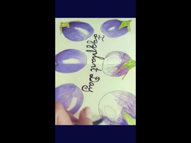 Eggplant sketch