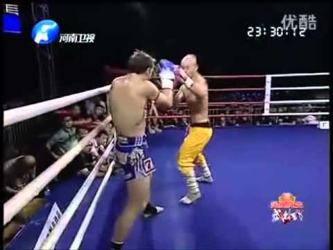 Shaolin Monk Yi Long Vs. Brad Riddell Rematch,CI-K Title Fight, Foshan, China 23/6/2012
