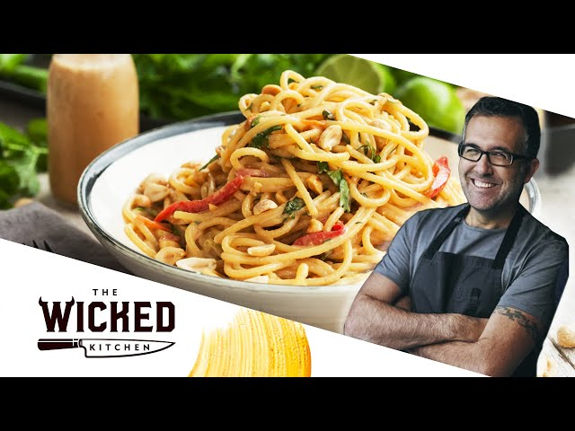 Peanut Ginger Thai-style Noodles | The Wicked Kitchen
