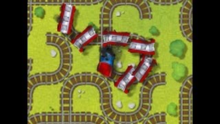 Derailed - Train Game - Video Game(Play at http://FunHost.Net/derailed Rotate tiles to reconstruct the track and guide your train safely from start to finish. You'll have to be on your toes as the train ..., 2013-08-20T03:40:20.000Z)