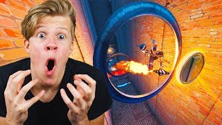 ZIEKE ROCKET RIDE IN PARKOUR! - Fortnite met Link
