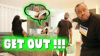 KICKING YOUR BABY OUT THE HOUSE PRANK !!!!