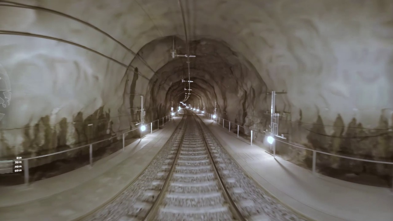 Download Citybanan tunnel under Stockholm in VR/360 video English subtitle