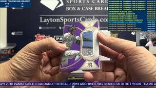 2018 Topps Definitive Baseball Hobby 3 Box Case Break #15   RANDOM DIVISIONS