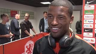 Georginio Wijnaldum heel blij na Nederland-Duitsland (3-0)
