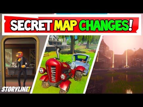 Fortnite SECRET MAP CHANGES & Storyline In V12.21 Week 6 Map Updates!