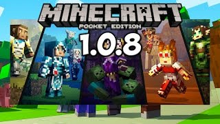 Скачать Обновление Minecraft PE 1.0.8 | Новый СкинПак