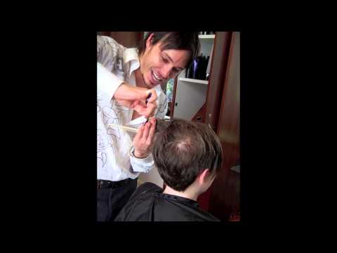 Dustin David Michelle Williams inspired haircut makeover