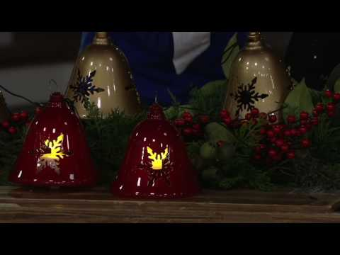 Mr. Christmas S/3 Illuminated Outdoor Musical Pathway Bells with Timer on QVC