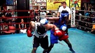 NY BOXING TOURNAMENT 7/10/15 : EDGARDO LUNA / BRANDON BROWNE : 132 lb . 3 rounds
