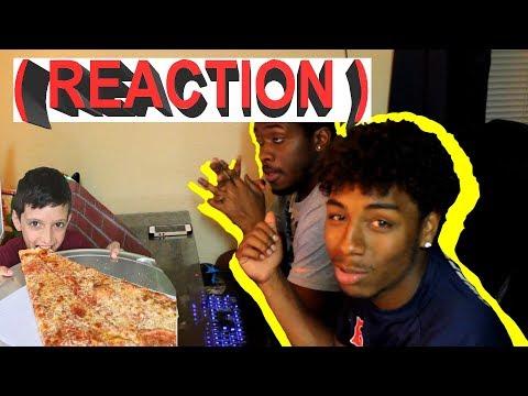 MATT STONIE VS MASSIVE SLICE OF PIZZA (Reaction)