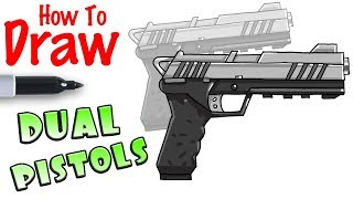 How to Draw Dual Pistols | Fortnite