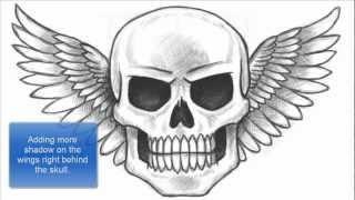 How to Draw a Skull with Wings (Part 1 of 2)