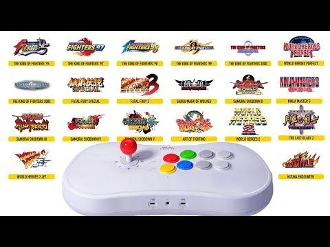 Stick Arcade Neo Geo Les 20 Jeux Enfin Dévoilés