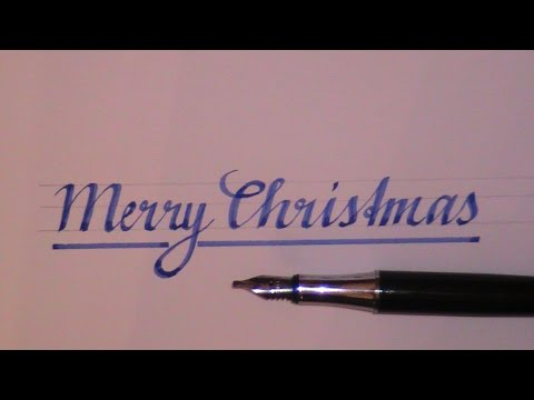 cursive letters - how to write in cursive Merry Christmas - YouTube