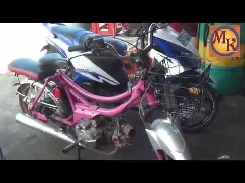 Kereen Modifikasi Motor Mirip Sepeda Youtube