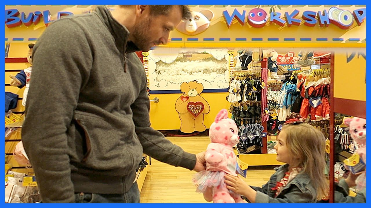 Adorable Daddy Daughter Build A Bear Valentines Day YouTube
