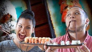 Sushi Challenge - Salmon Rolls (TabiEats Collab)   Just Eat Life