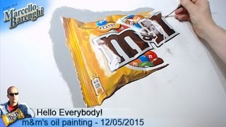 m&m's oil painting - 12/05/2015 LIVE Art - 6th day