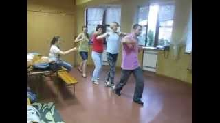 и снова репетиция, новый танец. hava nagila))