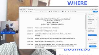 My Online Tax Preparation Training Course 12 Weeks