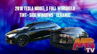"2018 Tesla Model X Full Winshield Tint + Side Windows "" Ceramic"""